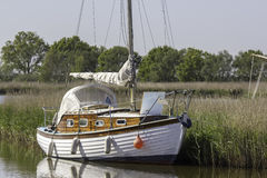Typical Broads Cruiser Sailing Boat Royalty Free Stock Photos