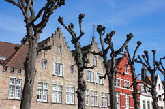 Typical Bruges Facades Royalty Free Stock Images