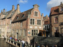 Typical Bruges historic building Stock Photos