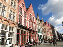 Typical Bruges historic buildings Stock Images