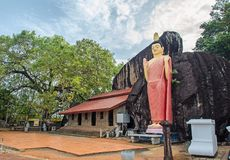 A typical buddha statue. A typical buddha temple in Sri Lanka Stock Images