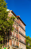 Typical building in the centre of Madrid, Spain Royalty Free Stock Image