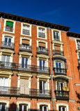 Typical building in the centre of Madrid, Spain Stock Image
