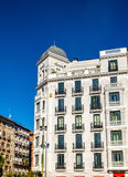 Typical building in the centre of Madrid, Spain Royalty Free Stock Photos