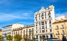 Typical building in the centre of Madrid, Spain Royalty Free Stock Images