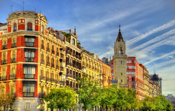 Typical building in the centre of Madrid, Spain Stock Photography