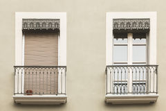 Typical building facade in the center of Grenoble, France Royalty Free Stock Photo