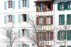 Typical building facade Stock Image