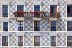 Typical building in Lisbon with old tiles. Traditional building in Lisbon, Portugal, with old decorative tiles Stock Image