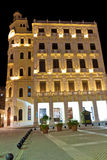 Typical building in Old Havana at night Stock Photography
