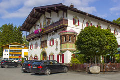 Typical building in Tirol, Austria Royalty Free Stock Image