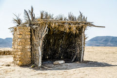 Typical building in Tunisia for protection in the desert of Matmata Stock Images