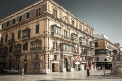 Typical building in Valletta, Malta Royalty Free Stock Images