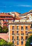 Typical buildings in the centre of Madrid, Spain Royalty Free Stock Image