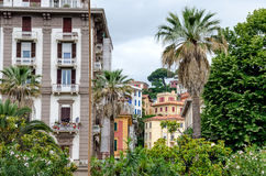 Typical buildings of La Spezia  and Morin Royalty Free Stock Image