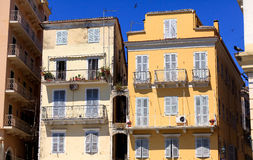Typical buildings in old city, Corfu Royalty Free Stock Photography