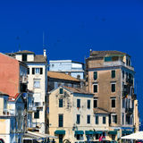 Typical buildings in old city, Corfu Royalty Free Stock Photo