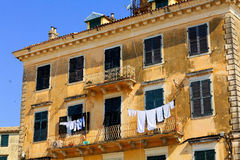 Typical buildings in old city, Corfu Stock Photo