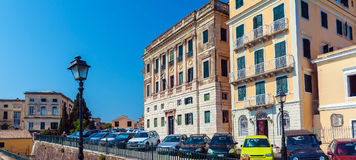 Typical buildings in old city, Corfu Stock Images