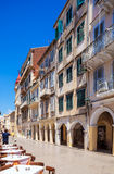 Typical buildings in old city, Corfu Royalty Free Stock Image