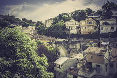 Typical buildings in old part of Rio de Janeiro stock photo