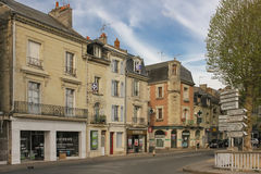 Typical buildings in the old town. Chinon. France Stock Image