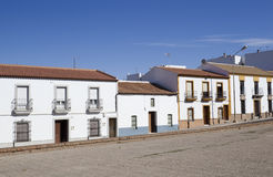 Typical buildings in Spanish small towns Stock Images