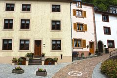 Typical buildings in Vianden, Luxembourg Royalty Free Stock Photo