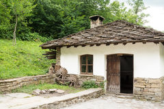 Typical Bulgarian architecture from the period of Ottoman empiri. Architectural ethnographic complex Etar is the first one of this type in Bulgaria. It presents Stock Photo
