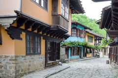 Typical Bulgarian architecture from the period of Ottoman empiri Royalty Free Stock Photo