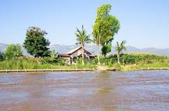 Typical burmese landscape Myanmar Stock Photo