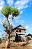 Typical Burmese village home Stock Photos