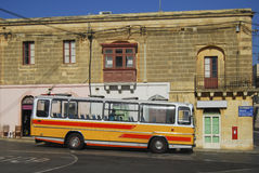 Typical bus of Malta. Characteristic colored bus typical of Malta Royalty Free Stock Images