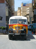 Typical bus of Malta. Legendary and iconic Malta public buses, tourist attraction of the island Royalty Free Stock Photography