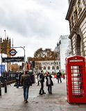Typical busy day in London stock images