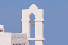 Typical byzantine greek church bell. On blue sky Royalty Free Stock Photos