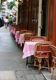 Typical cafe in Paris. Typical outdoor cafe in Paris Royalty Free Stock Image
