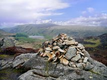 Typical cairn in the Lake District Stock Photography