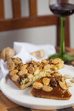 Typical cake with almonds Royalty Free Stock Photography