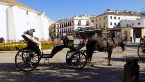 Typical calash -Ronda- ANDALUSIA-SPAIN Stock Photography