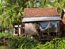 Typical cambodian house Royalty Free Stock Images