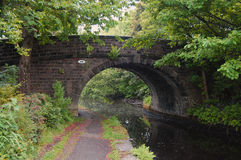 A typical canal bridge in the Calder Valley - UK royalty free stock photography
