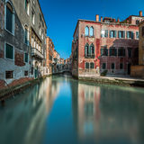 Typical Canal, Bridge and Historical Buildings Stock Images