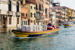 Typical canal and street scene, Venice Stock Photography
