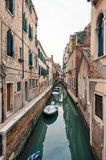 Typical canal of Venice. Royalty Free Stock Photos