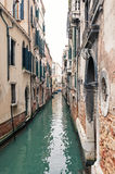Typical canal of Venice. Royalty Free Stock Image