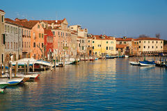 Typical canal in Venice, Italy Stock Images
