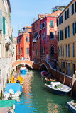 Typical canal in Venice, Italy Stock Photography
