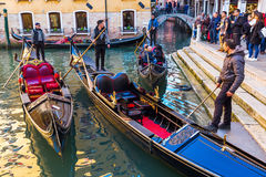 Typical canal in Venice, Italy Stock Photo