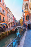 Typical canal in Venice, Italy Royalty Free Stock Images